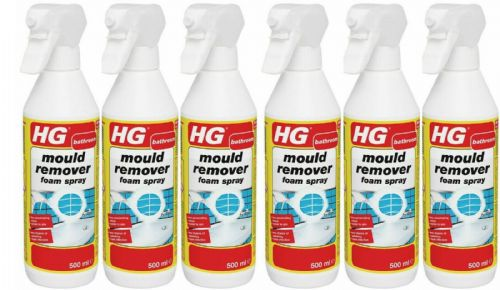 HG Mould Remover Foam Spray - 500ml Pack of 6